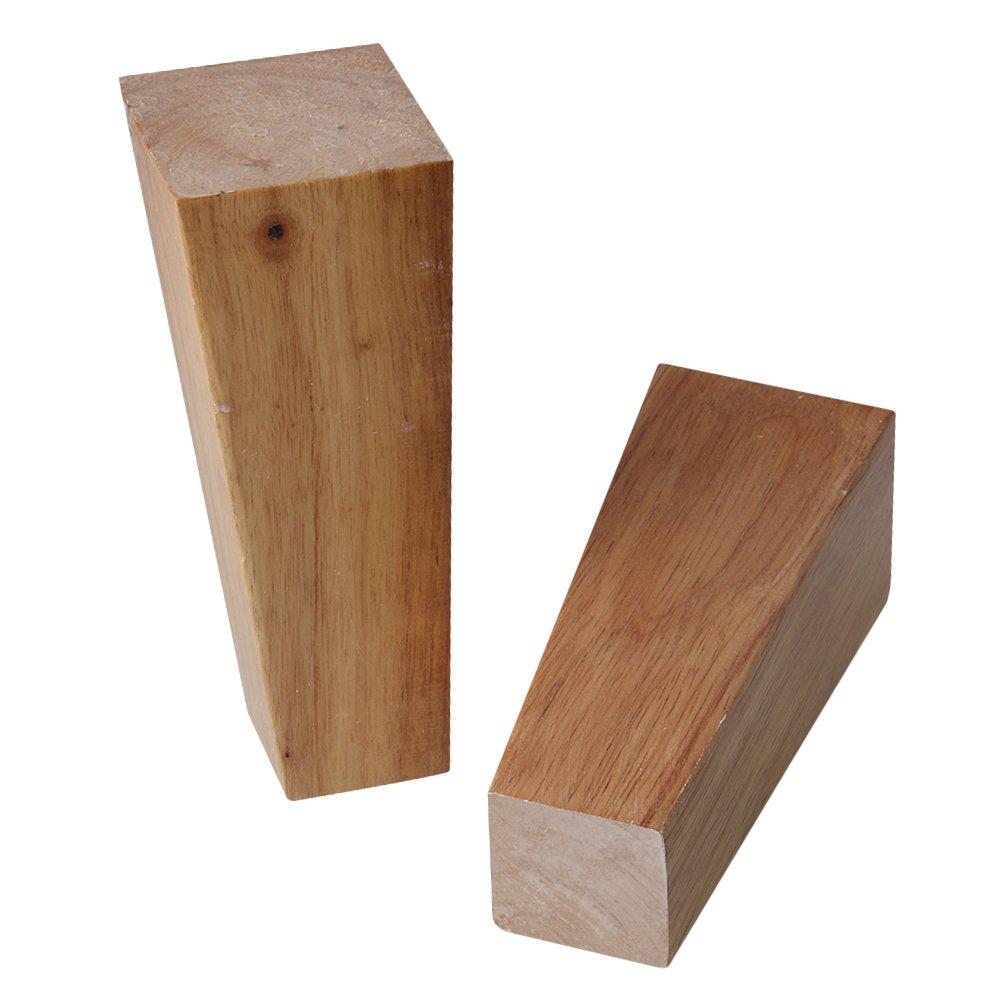 BQLZR 4 x 5,5 x 15 cm de madera mueble armario patas ángulo ...