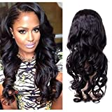 HUMAN&NATURAL LWW Remy Hair Extensions Human Hair Brazilian Loose Wave Hair 130% Denisity Virgin Human Hair Lace Front Wigs For Black Women Natural Color 20inch offers