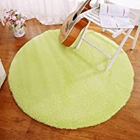 Round Solid Sherpa Fluffy Carpet Bedroom Study Soft Carpet Floor Mat Yoga Mat - MAXYOYO Non-Slip Living Room Round Area Rug, Diameter 63 inch