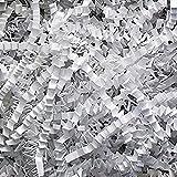 1lb White Crinkle Cut Paper Shred for Baskets, Boxes, Shipping, Filler, Basket Filling, etc.