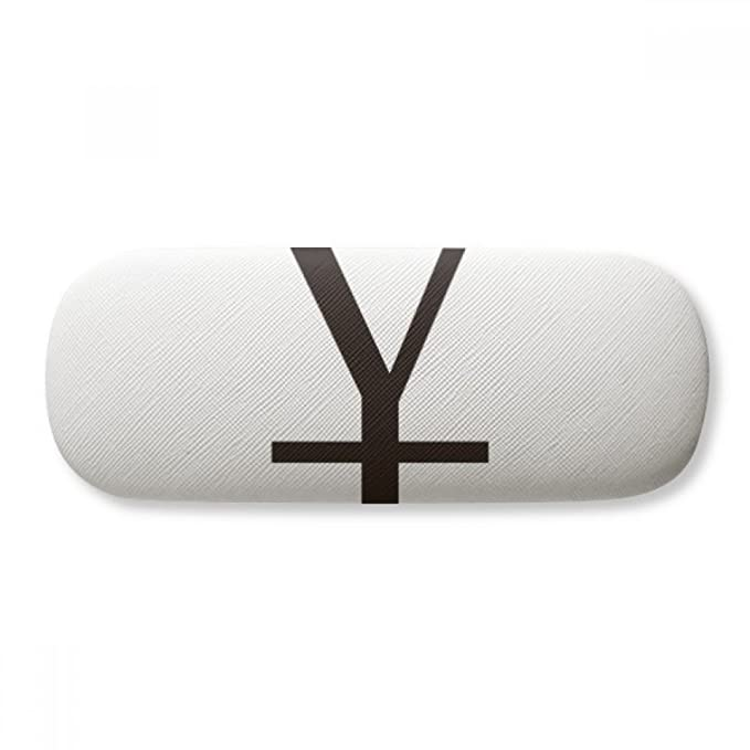 Currency Symbol China Yuan Glasses Case Eyeglasses Clam Shell Holder