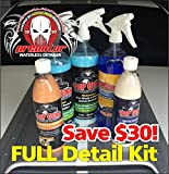 TOP GUNN WATERLESS FULL DETAIL CAR CLEANING709257470252 KIT POWERED BY TOP GUNN CAR CARE PRODUCTS