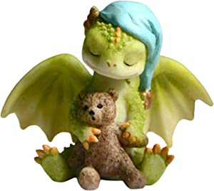 Abimy Cute Cartoon Dragons Ornament, Mini Figure Collection Playset, Resin Simulation Dinosaur Doll for Home Garden Yarns Decor