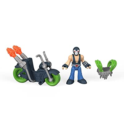 Fisher-Price Imaginext DC Super Friends Bane Action Figure and Motorcycle: Toys & Games