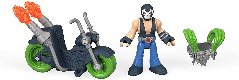 New IMAGINEXT DC SUPER FRIENDS EXCLUSIVE BANE Action Figure /& Motorcycle Batman