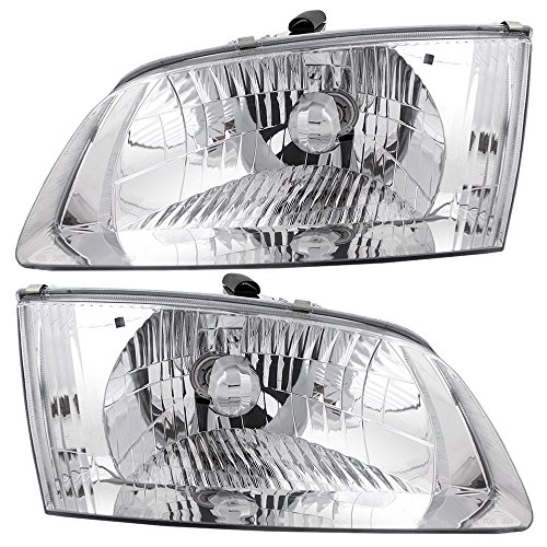 Pair Set Headlights Headlamps Replacement for Mazda 626 GG2A-51-040B GG2A-51-030B ()