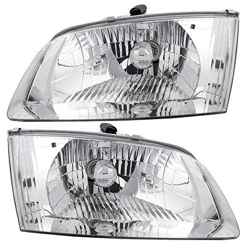 Pair Set Halogen Headlights Headlamps Replacement for 00-02 Mazda 626 GG2A-51-040B GG2A-51-030B AutoAndArt ()