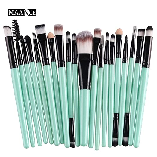 869a45bc6 Amazon.com: CINIDY 20 pcs Makeup Brush Set tools Make-up Toiletry Kit Wool Make  Up Brush Set (Black): Beauty