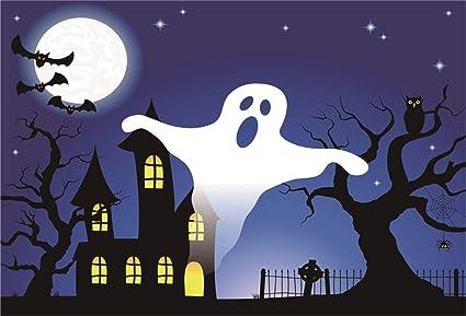 Buenn 5x3ft Horreur Halloween Fantôme Arrière Plan Effrayant