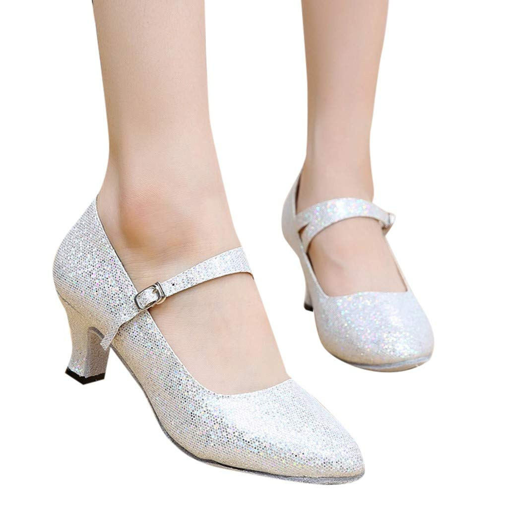 Zapatos De Mujeres Ohq Medio Rumba Tacones Sandalias Altos Baile trdshQ