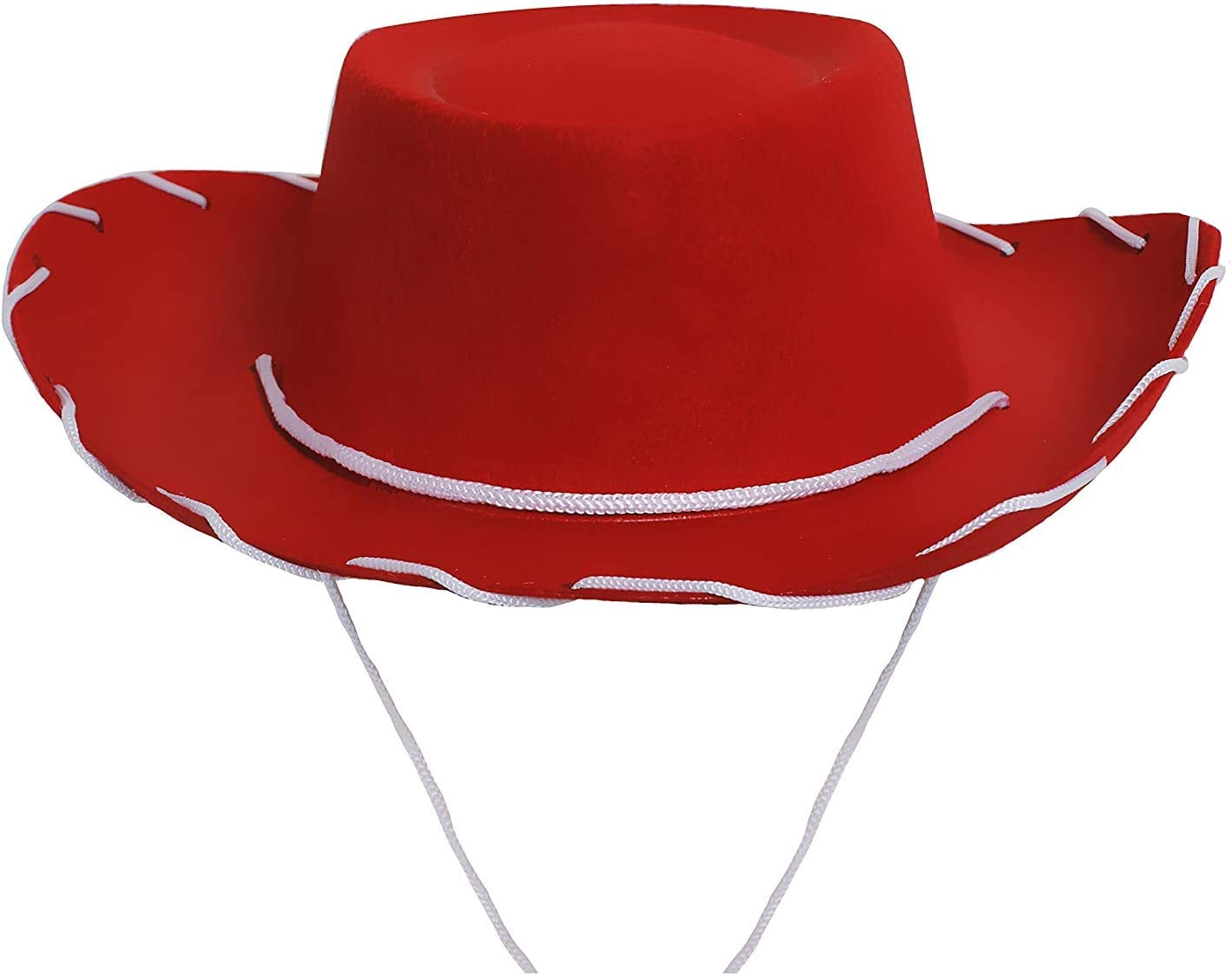 CHILDS RED FELT COWBOY HAT FANCY DRESS ACCESSORY