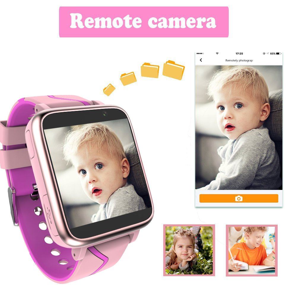 Jesam Kids Music Player Smart Watch - Smart Watch with Mp3 FM Player Watch [with 1GB Micro SD Card] and Camera Flashlight SIM Slot Phone Call Voice Chat for Students Age 4-12 (Pink&Rose) by Jesam (Image #6)