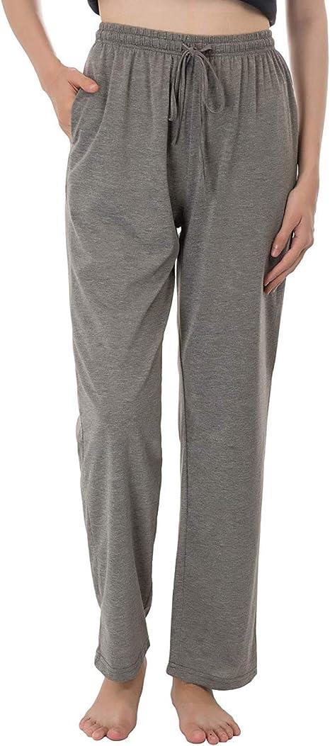 Zexxxy - Pantalones Largos de Pijama para Mujer, con Bolsillos, de ...
