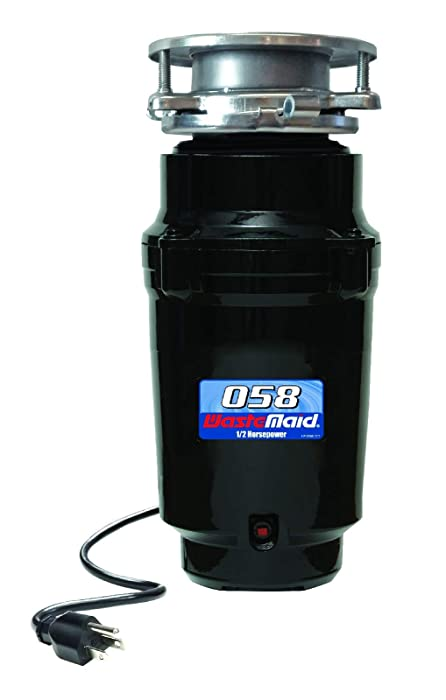 Waste Maid 58 Economy Food Waste Disposer, Garbage Disposal, Attached Power Cord, 1/2 HP, 2600 RPM