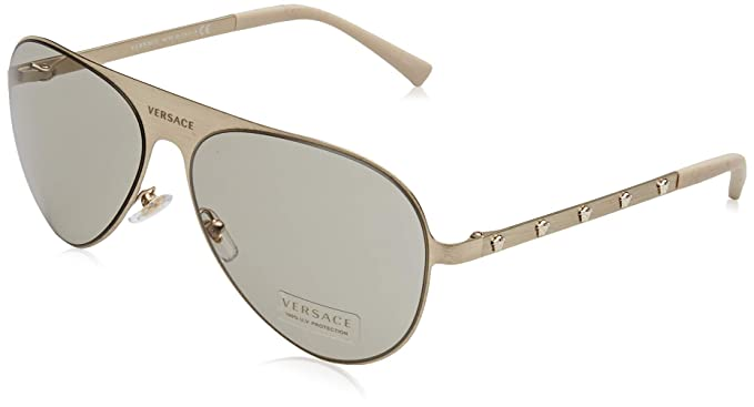 842ebfa370e44 Versace MEDUSINA VE 2189 BRUSHED PALE GOLD LIGHT BROWN unisex ...