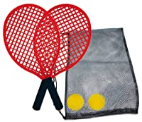 Schildkröt Funsports Soft Tennis Set Beach in Tasche, Rot, 40 cm, 970130