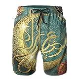 HFSST Ramadan Religion Muslim Holiday Islam Summer Swimming Trunks Beachwear Shorts