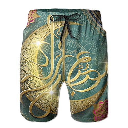 HFSST Ramadan Religion Muslim Holiday Islam Summer Swimming Trunks Beachwear Shorts by HFSST