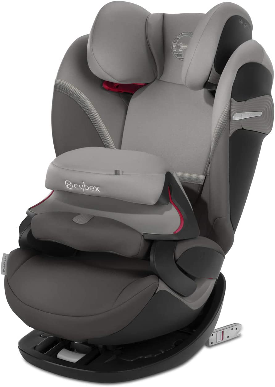 CYBEX Gold Silla de coche 2 en 1 para niños Pallas S-Fix, Para coches con y sin Isofix, Grupo 1/2/3 (9-36 kg), Desde los 9 meses hasta los 12 años aproximativamente, Soho Grey