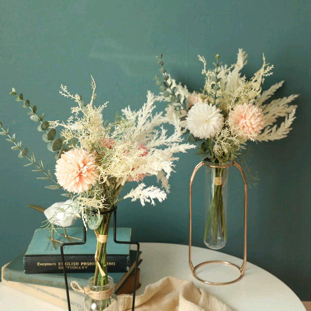 Modisch Künstliche Seidenblumen Pfingstrose Kunstblumen Blumen Strau Hellrosa