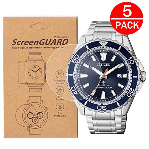 [5-Pack] For Citizen BN0191/BN0190 Watch Screen Protector,Full Coverage Screen Protector for BN0191-55L/BN0190-82E Watch HD Clear Anti-Bubble and Anti-Scratch