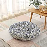Modern Simple Line Decorative Thick Futon Pad Pendant Window Yoga Cushion Balcony Round Tatami Cushion Diameter of About 23 inches