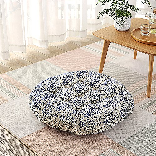Modern Simple Line Decorative Thick Futon Pad Pendant Window Yoga Cushion Balcony Round Tatami Cushion Diameter of About 23 inches by XIAOAI HOME