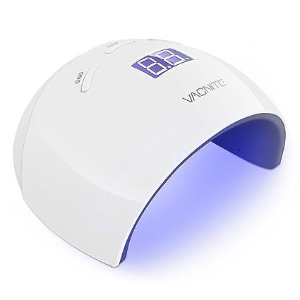 48W Lámpara LED Uñas UV , Vacnite Secador de Uñas de LED con Ajuste de Temporizador