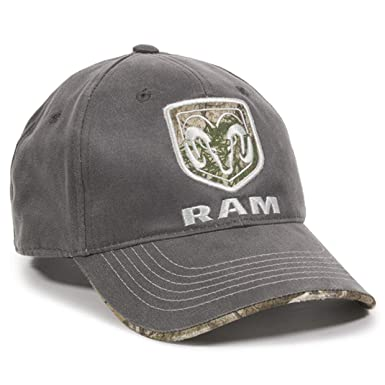 966b7386f5a Image Unavailable. Image not available for. Color  Outdoor Cap Dodge Ram  Realtree Visor Edge Charcoal Camo Hunting Outdoor Hat