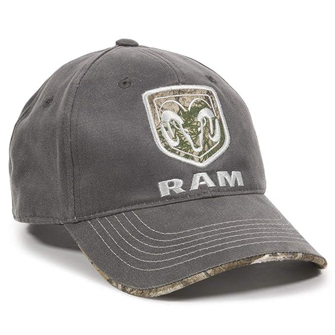 Outdoor Cap Dodge Ram Realtree Visor Edge Charcoal Camo Hunting ... de541b9ff6e