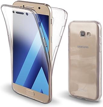 Moozy Funda 360 Grados para Samsung A3 2017 Transparente Silicona: Amazon.es: Electrónica