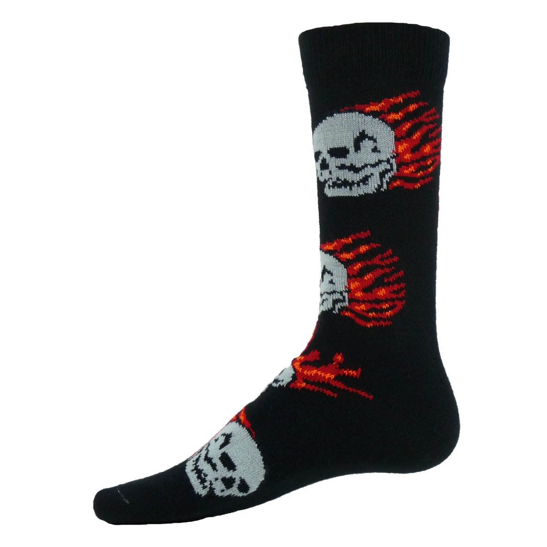Red Lion Blaze Flat Knit Crew Socks (Black - Medium) 721109UT