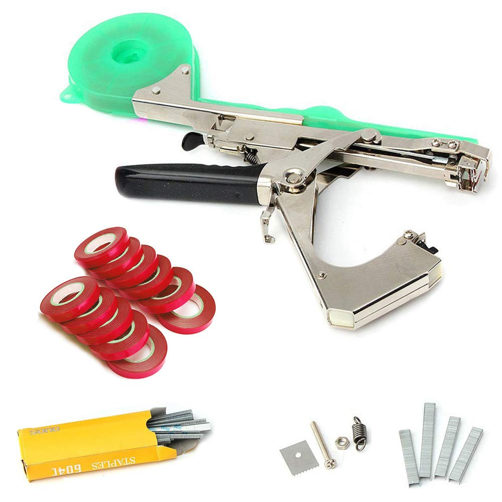 SIMERST Tying Machine for Plant and Garden Plant Tapetool Tapener with 11 Rolls Tape Set for Vegetable, Grape, Tomato,Cucumber, Pepper and Flower