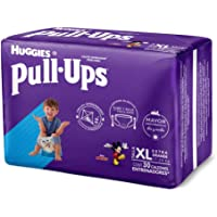 Huggies Pull-Ups Calzoncitos Entrenadores para Niño, Talla Extragrande, 1 Paquete con 30 Calzoncitos Desechales, Ideal para niños de 18 kg o más