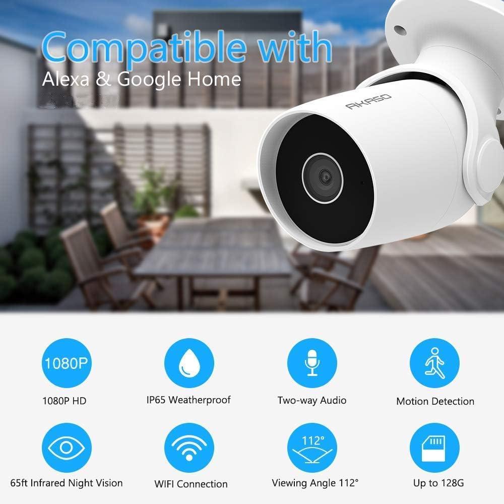 Cámara de vigilancia Akaso compatible con Alexa por 44,99€ (precio al tramitar pedido)