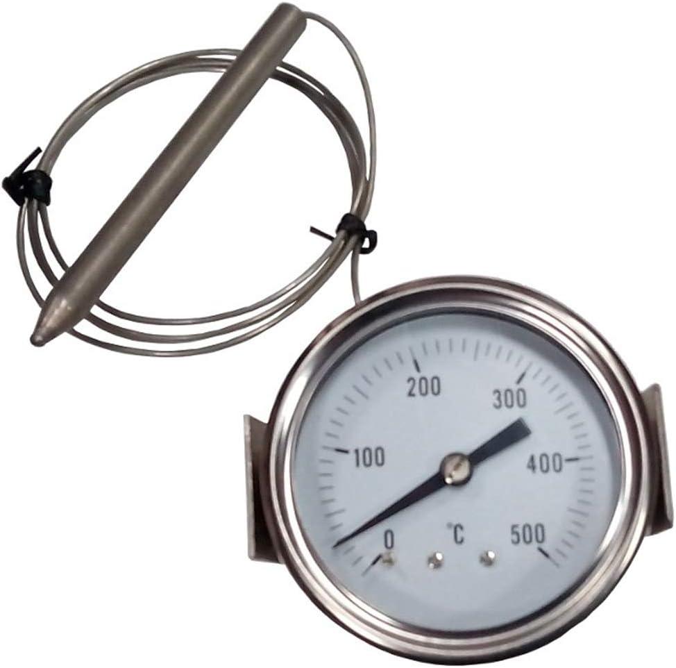 REDPOINT SPARES PIROMETRO/Termómetro 0-500° para hornos Pizza, BBQ, hornos de leña, etc.