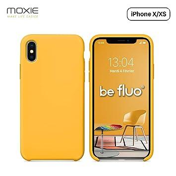 coque iphone xs jaune pastel