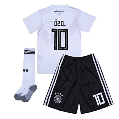 043532a1b9b Amazon.com  Ozil  10 Germany 2018 World Cup Home Kids Soccer Jersey ...