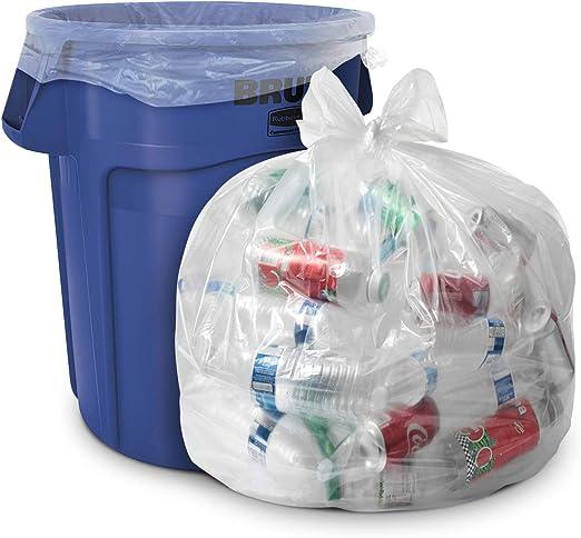 Amazon.com: Bolsas de basura transparentes de 33 galones ...