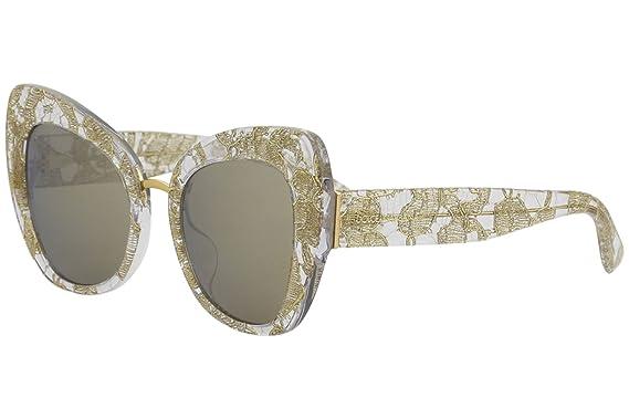 c77f07ea5f02 Amazon.com  Sunglasses Dolce and Gabbana DG 4319 F 31535A GOLD LACE ...