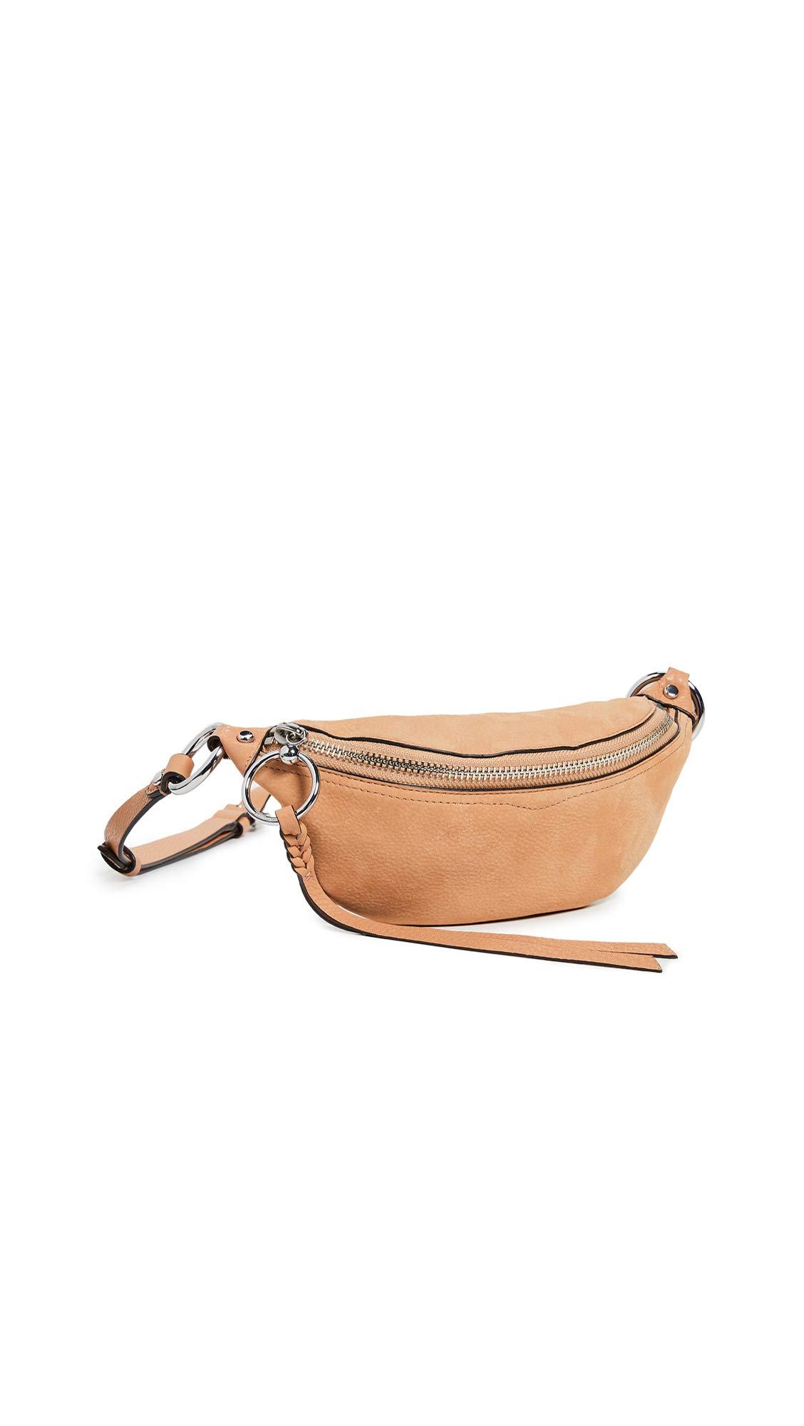Rebecca Minkoff Women's Bree Mini Belt Bag, Honey, Tan, One Size