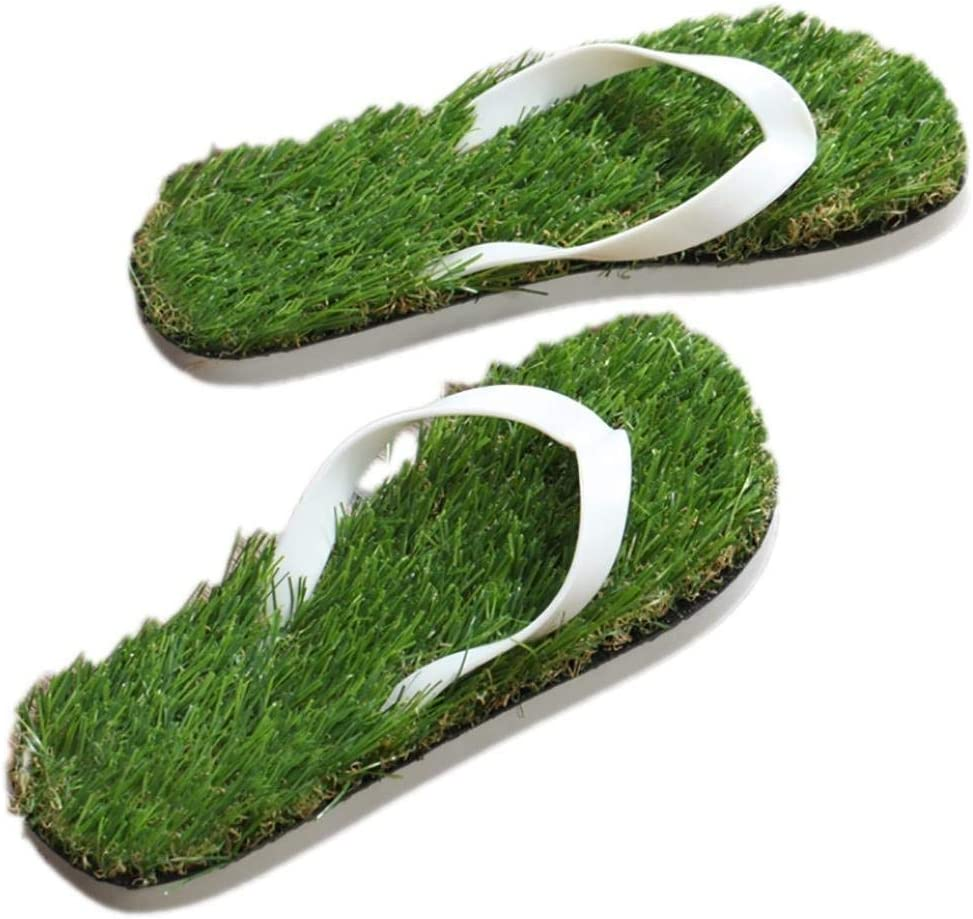 Color : Black, Size : 34//35 Oudan Unisex Imitation Grass flip Flops Beach Sandals Lightweight EVA Sole Comfort Straps