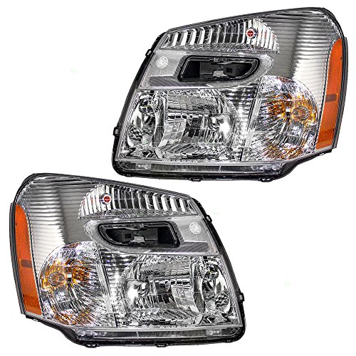 Driver and Passenger Headlights Headlamps Replacement for Chevrolet SUV 15888058 ()