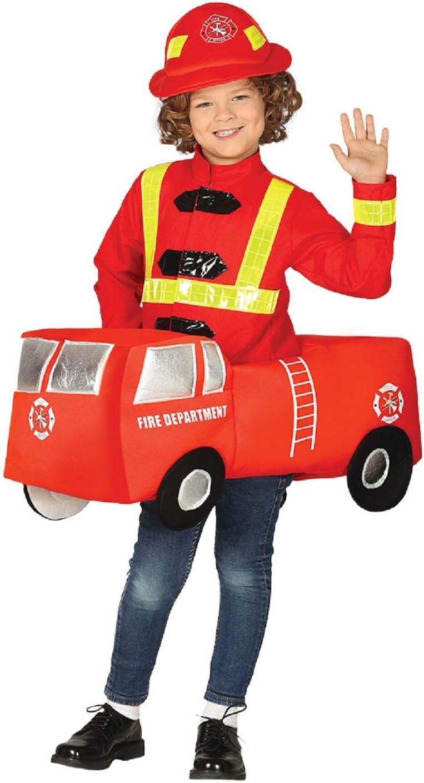 Fancy Me Disfraz de Bombero para niños y niñas de 5 a 9 años ...