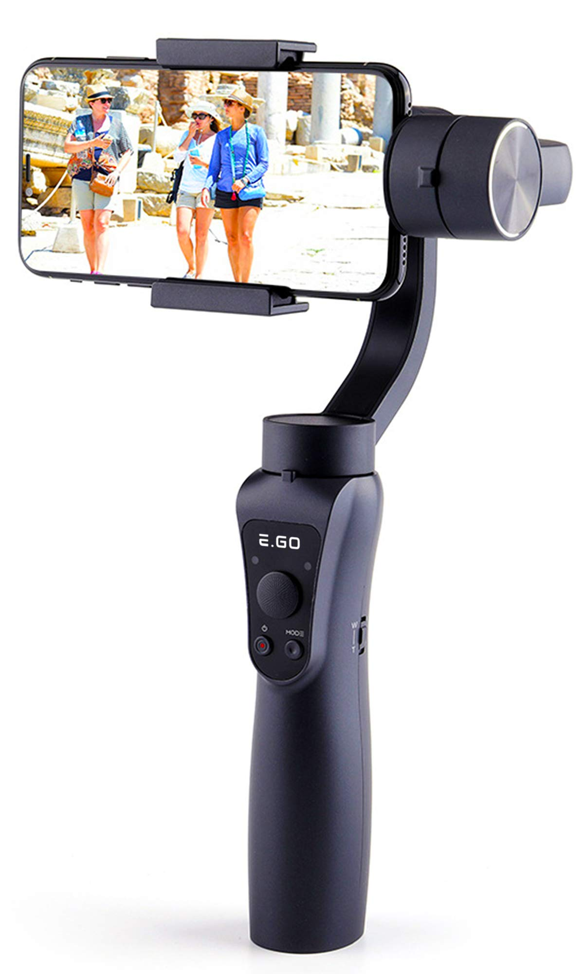 Gimbal Stabilizer for Smartphone Video Recording - Handheld Smooth 4 3-Axis H w/Focus Pull & Zoom - for iPhone Xs Max Xr X 8 Plus 7 6 SE - Samsung Galaxy S9+ S9 S8+ S8 S7 S6 Q2 Edge by EGO