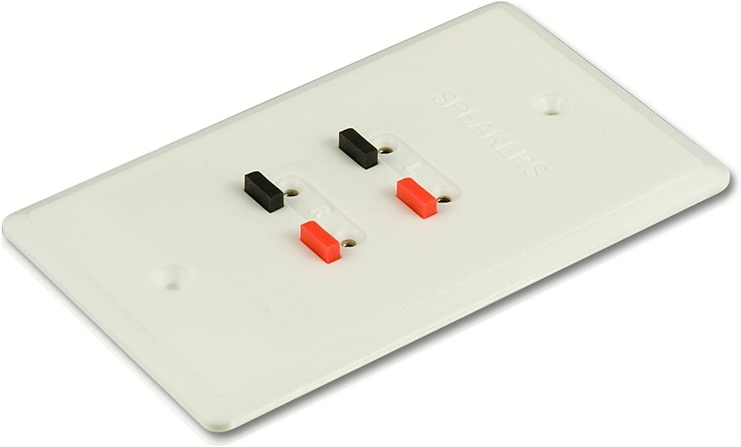 Philips Stereo Speaker Wire Wall Plate up to 16 Gauge