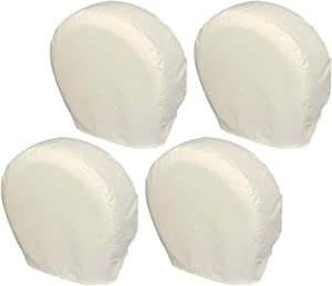 Explore Land Tire Covers 4 Pack - Tough Tire Wheel Protector for Truck, SUV, Trailer, Camper, RV - Universal Fits Tire Diameters 32-34.75 inches, White