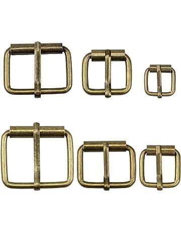 32mm Rettangolo regolabile tri-glide fibbia dispositivo di scorrimento per Cintura in Pelle Abito Cinturino
