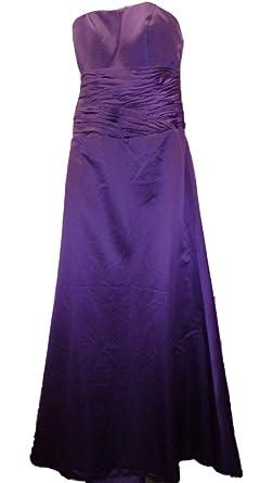 Sale 70% Off Amanda Wyatt DQ2144 Amethyst*Cadbury Purple Satin Bridesmaid*Prom Dress