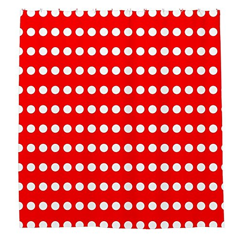 Angelly Red And White Polka Dot Shower Curtain (Blue Polka Dot Shower Curtain)
